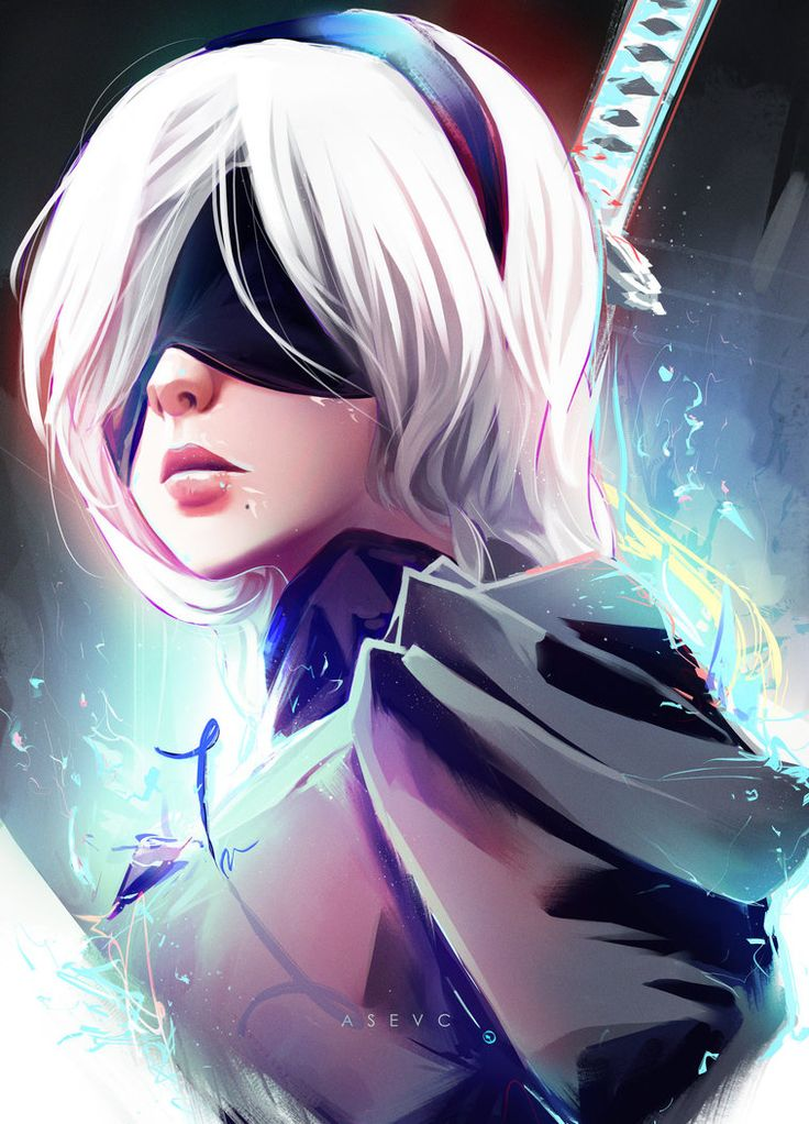 Been wanting to draw 2B for so long xD