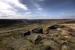 Saddleworth Moor, viewed from Hollin Brown Knoll. The bodies of three of the victims were found in this area.