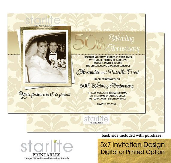 50th wedding anniversary invitation 50th anniversary papergoods etsymktgtool httpetsy - 50 Wedding Anniversary Invitations