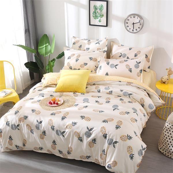 Best Wensd Wholesale Edredon Flamingo Super Soft Ultra Soft Duvet Cover King Home Textile Duvet Bedding Sets Pineapple Bedding Bedding Set