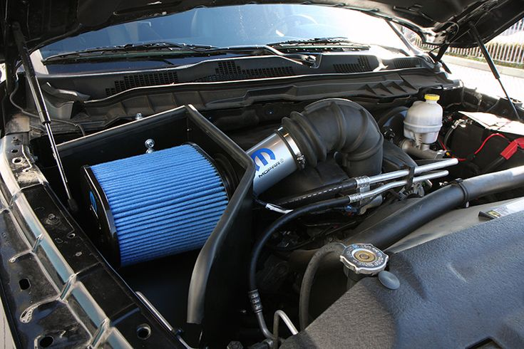 Ram 1500 cold air intake- part# 77070023. Adds HP and increases MPG. No drilling, cutting, or splicing. 40 minutes to install. www.mymoparparts.com