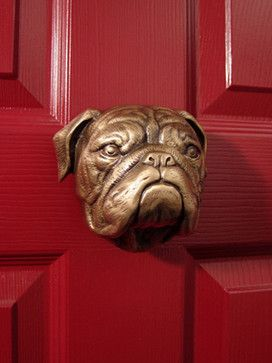 Boxer Door Knocker - eclectic - outdoor decor - other metro - Mailboxes and Stuff