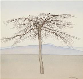 Rita Angus, Tree, 1943