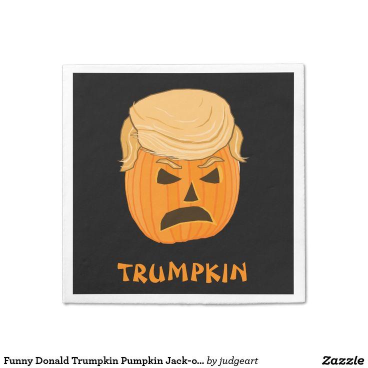 Funny Donald Trumpkin Pumpkin Jack-o-lantern