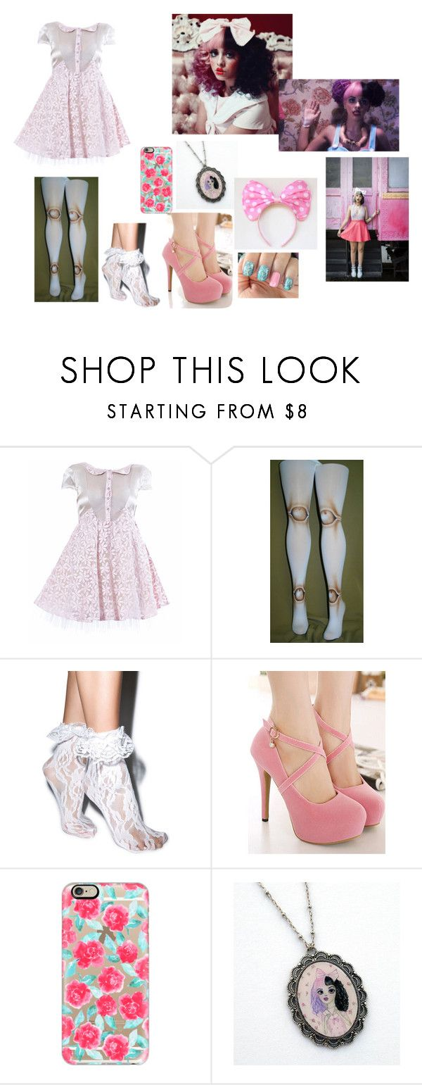 """""""Melanie Martinez Dollhouse"""" by doctorwhofl ❤ liked on Polyvore featuring Elena Perseil, Leg Avenue, WithChic, Casetify, Dollhouse and Disney"""