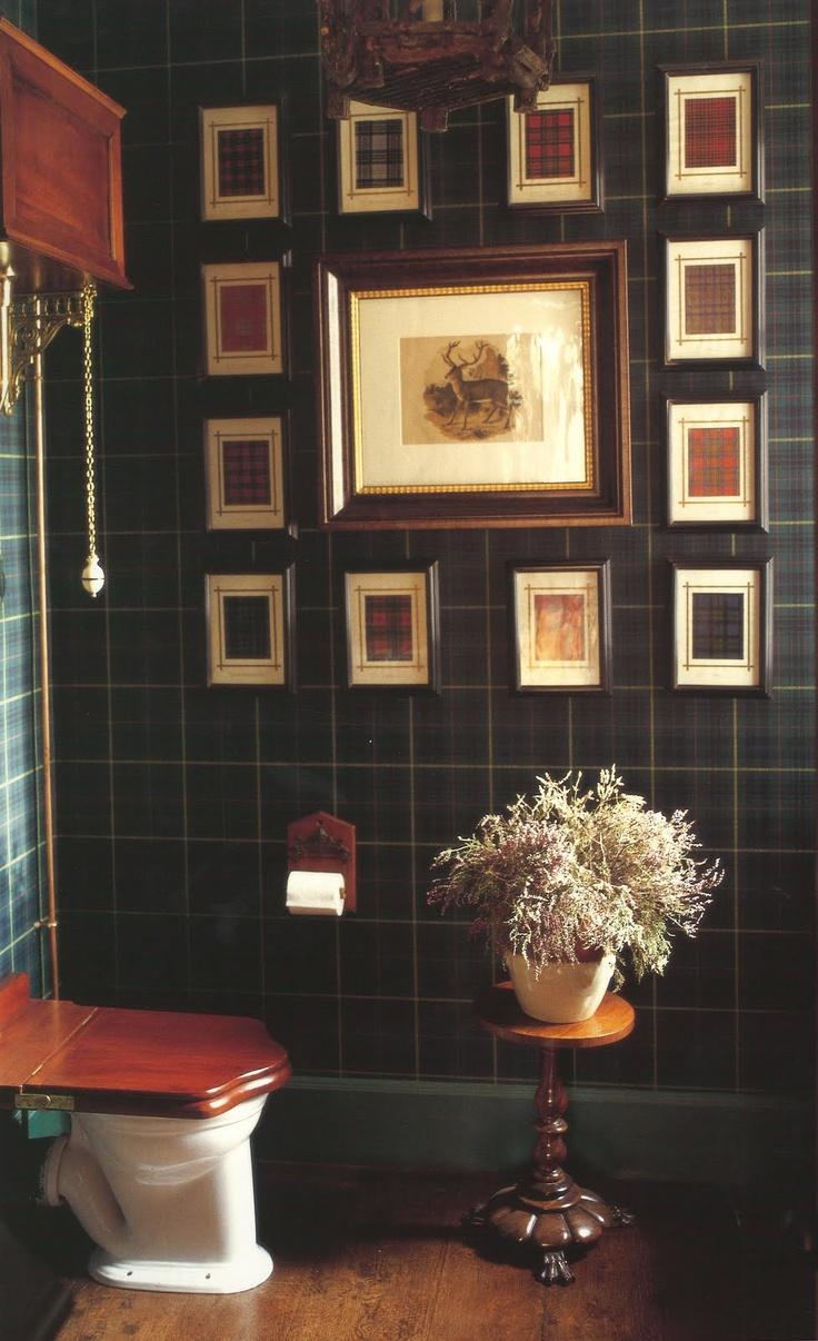 Denton & Gardner plaid graphs on plaid wallpaper