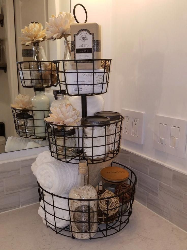 #bathroomideas in 2020 | Small bathroom decor, Farmhouse ...