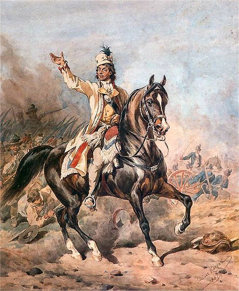 Andrzej Tadeusz Bonawentura Kościuszko (4 or 12.2.1746|15.10.1817) Polish military engineer + military leader. A national hero in Poland, Belarus + the U.S. He fought in the Polish–Lithuanian Commonwealth's struggles against Russia + Prussia, + on the American side in the American Revolutionary War. As Supreme Commander of the Polish National Armed Forces, he led the 1794 Kościuszko Uprising. Kościuszko was b. 2|1746 in the Polish–Lithuanian Commonwealth, in a village that is now in Belarus.