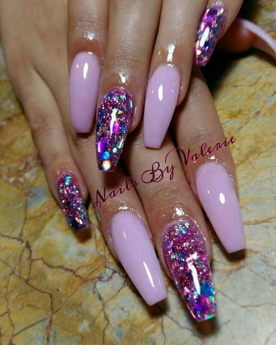 25 unique glitter nail designs ideas on pinterest glitter nails 15 easy diy coffin nails designs for summer prinsesfo Images