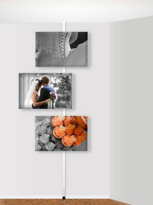Innovatief ophangsysteem zonder boren, strips of tape. Hang je trouwfoto's op zoals jij wilt.
