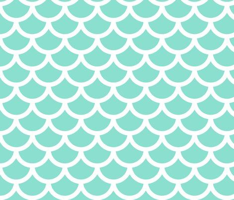 mermaid - mint fabric by gingerme for sale on Spoonflower - custom fabric, wallpaper and wall decals