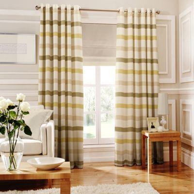 Whiteheads Judy Green Lined Eyelet Curtains-   Debenhams