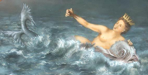 Si narra che un giorno la nave di Ulisse arrivò nelle acque popolate dalle sirene, e Partenope volle tentare di sedurre l'eroe col suo dolce quanto ingannevole; cantò, ma egli la respinse. La sirena distrutta dal dolore si gettò da un'alta rupe ed il suo corpo trasportato dalle onde arrivò sino al golfo napoletano e vi rimase imprigionato. Partenope si dissolse e il suo corpo sinuoso si trasformò nella morfologia del golfo napoletano.