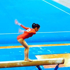 (Koko Tsurumi's Onodi) Onodis are extremely difficult, even more so on beam. Her perfect form and balance make her a popular gymnast to watch! -Lauren