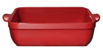 Brytfanna ceramiczna prostokątna (28 x 23 cm), czerwona - Emile Henry