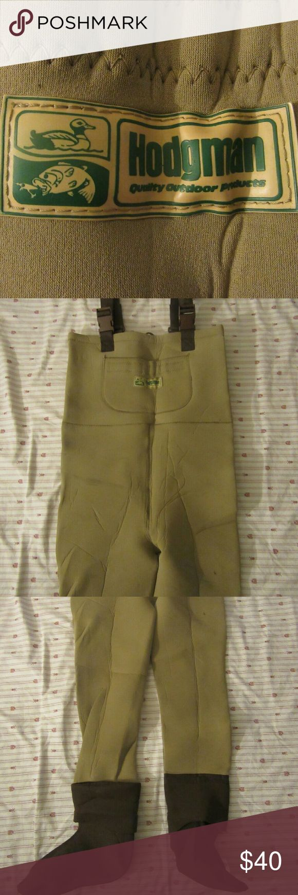 vintage hodgmans wading suit sz M great shape  vintage hodgmans neoprene wading/fishing suit sz M  waist 36 x 30 length hodgmans wading suit Other