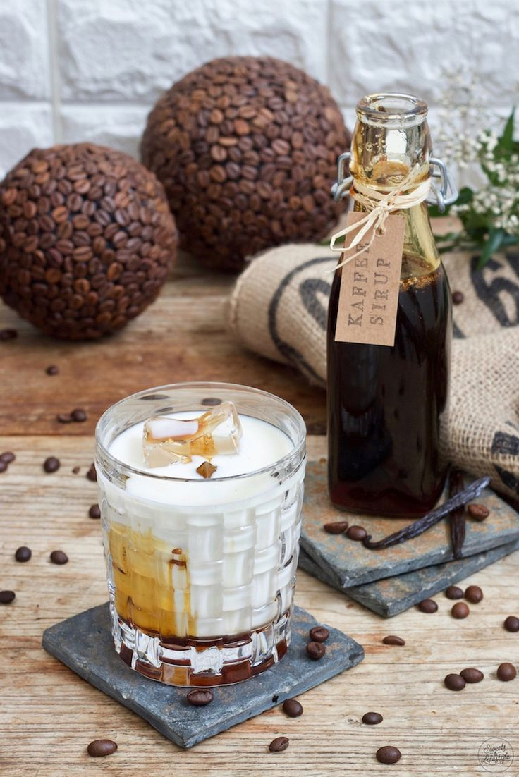 Coffee syrup with vanilla  – Sirup rezepte & mehr ‼️