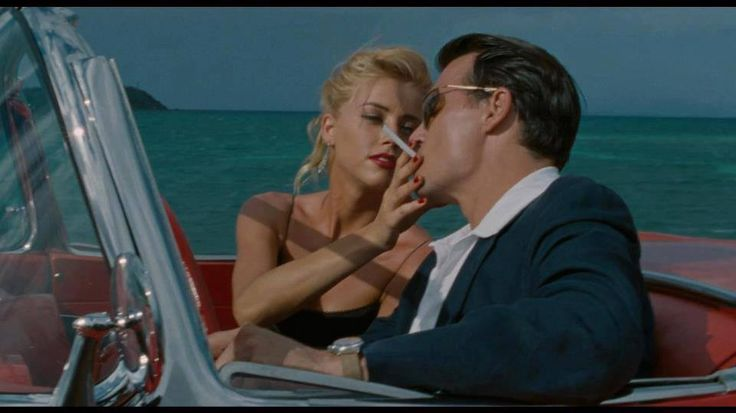 amber heard & johnny depp in rum diary.