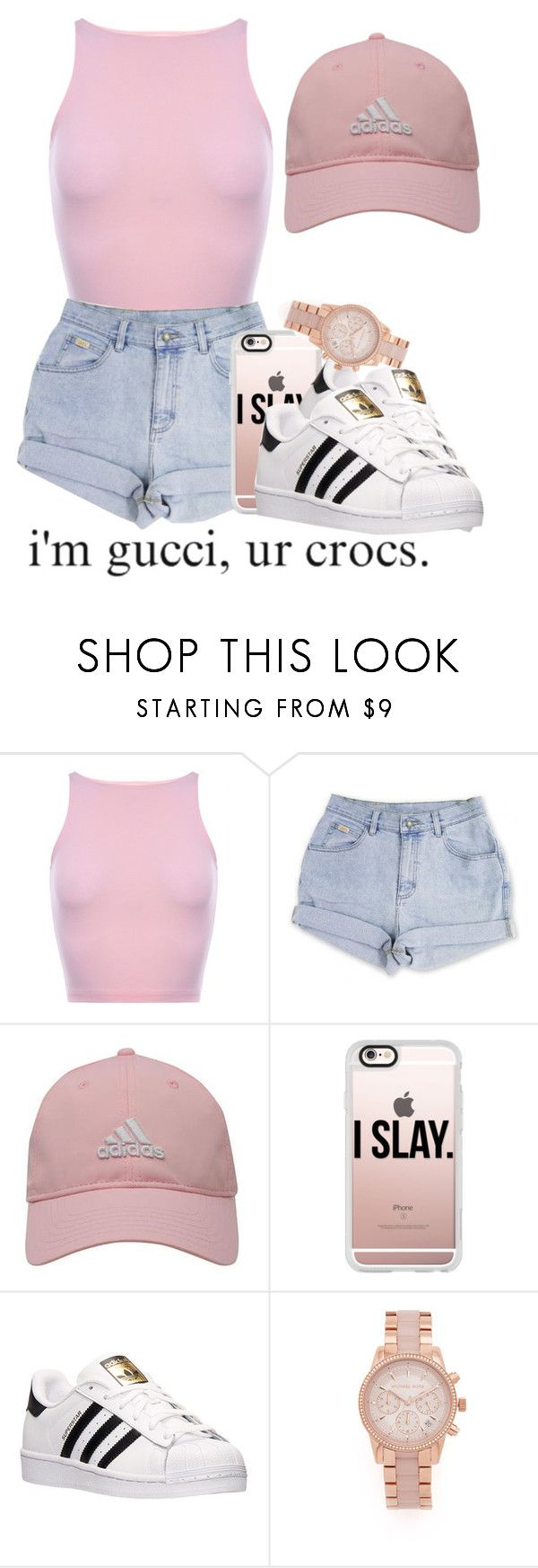 I might go get me some money by trvpgirl-a ❤ liked on Polyvore featuring adidas Golf, Casetify, adidas and Michael Kors