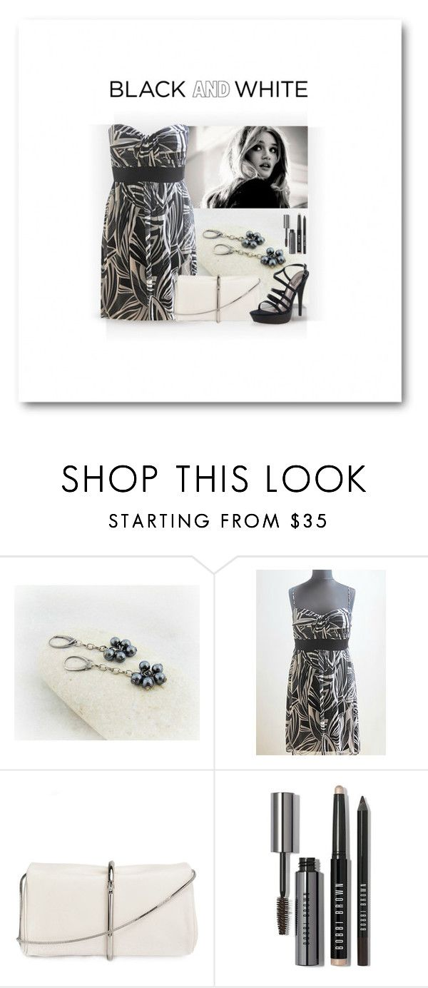 """Black and White"" by styledonna on Polyvore featuring moda, 3.1 Phillip Lim, Bobbi Brown Cosmetics, Nine West i vintage"