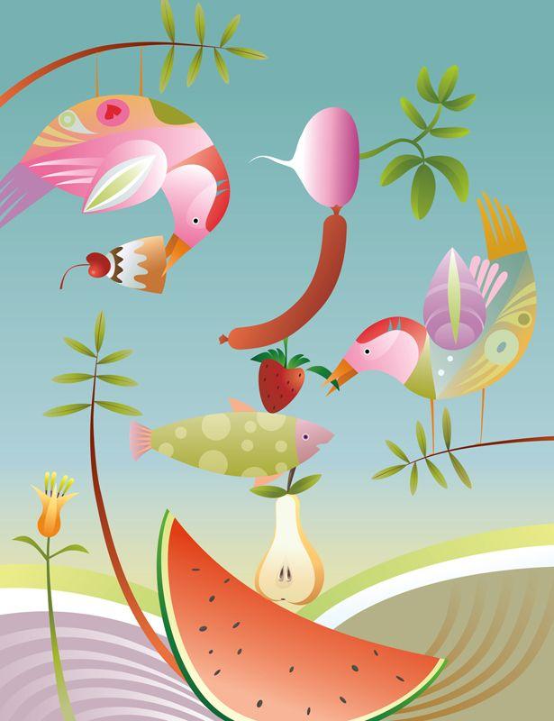 #ChristianeBeauregard #healthyeating #vegetables #fruit #vegetarian #digitalillustration #illustration #lindgrensmith
