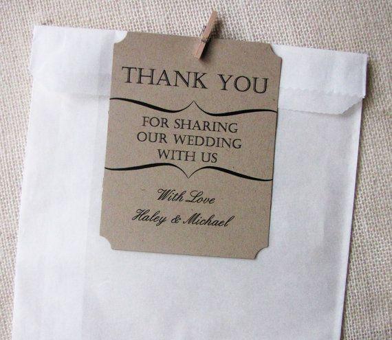 Wedding Gift Bag Thank You Tags : Thank You Tag Wedding Favor Party Favor Gift bag Tags