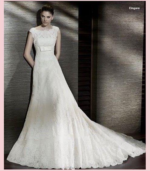 Элегантные бальное ремни из бисера суд поезд кружева свадебное платье