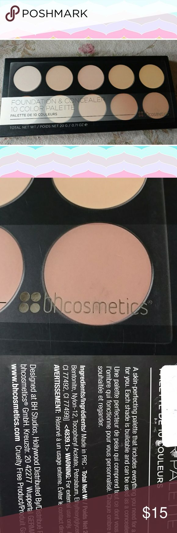 Nwt bh cosmetics 10 ct foundation and concealer Nwt ten CT concealer and foundation set. bh cosmetics Makeup Foundation