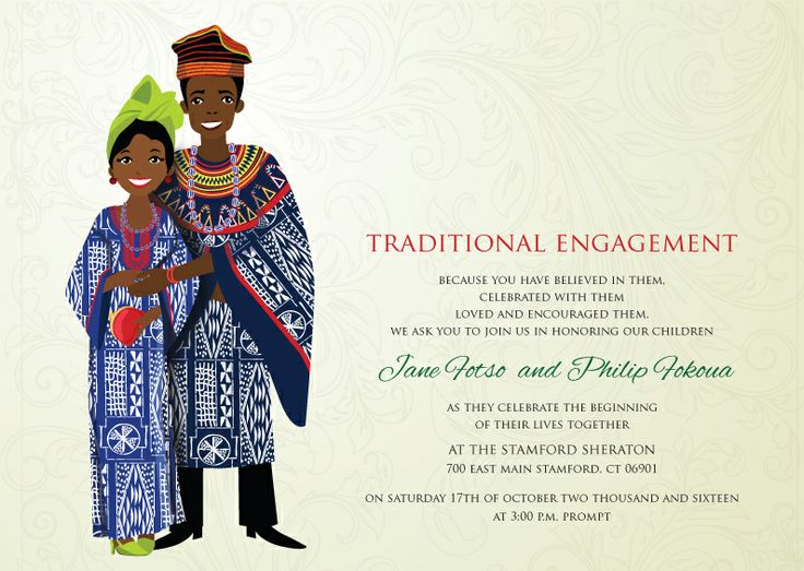9 best Afrocentric Wedding Invitations images on Pinterest African