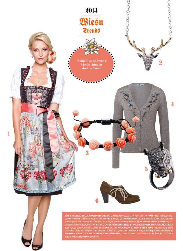 Von Herzchen und Rosenmuster über Perlenstickerei und Silberkättchen ist für alle was dabei: Unsere romantische Trachtenmode.