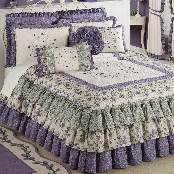 1000 ideas about purple bedspread on pinterest carnival for Frilly bedspreads
