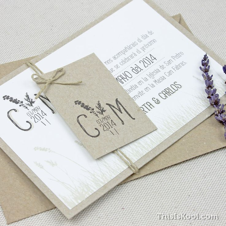 Invitación boda - LAVANDA | This Is Kool © | www.thisiskool.com
