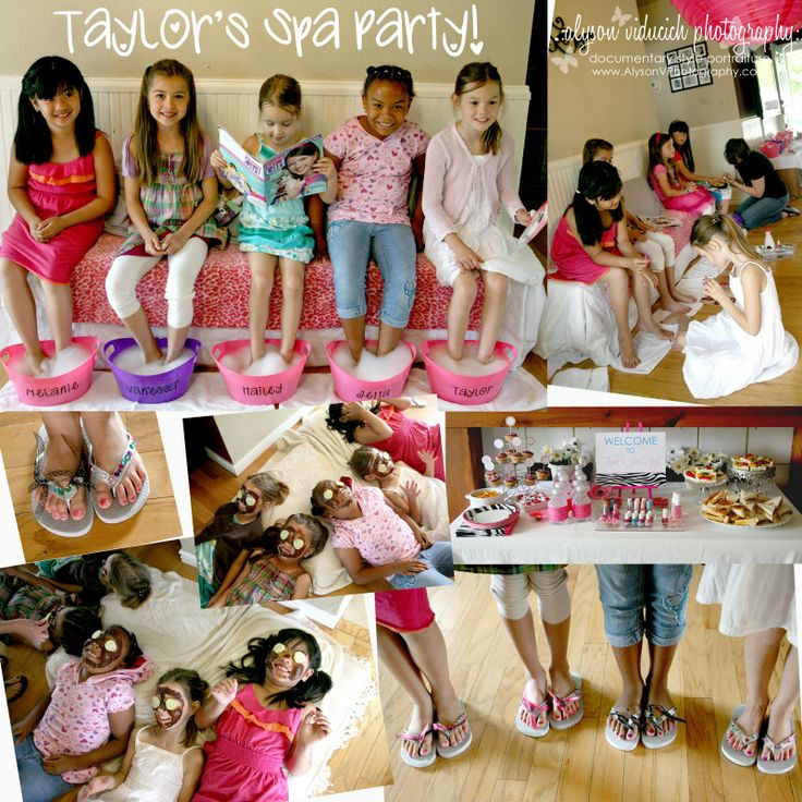Here's the end result of having lots of fun spa party ideas to entertain and pamper your little guests.