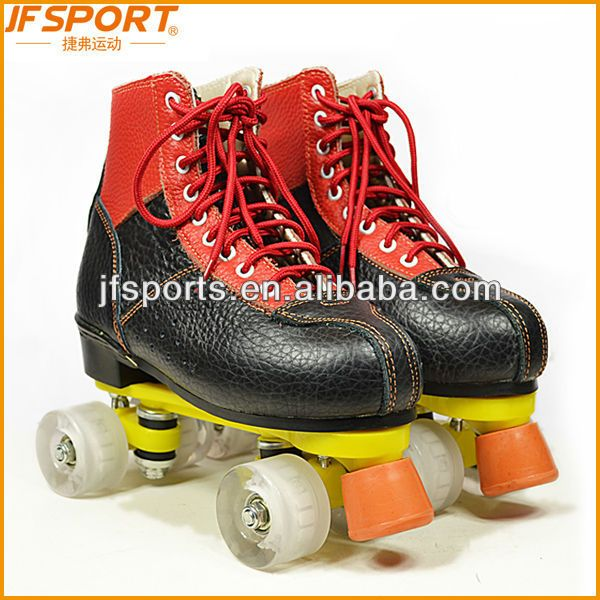 high quality Leather and Soft Fabric pu wheel quad roller skates for sale $15~$35