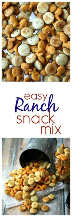 Easy Ranch Snack Mix Just a few minutes is all it takes to create this flavorful snack mix everyone loves!