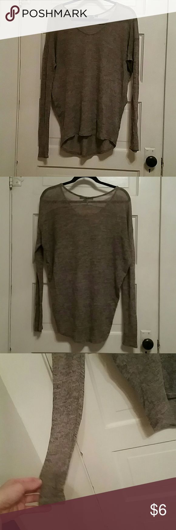 Light brown slouchy shirt Light brown color, slouchy long sleeve scoop neck. arms are a bit small, only a little stretch Forever 21 Tops Sweatshirts & Hoodies
