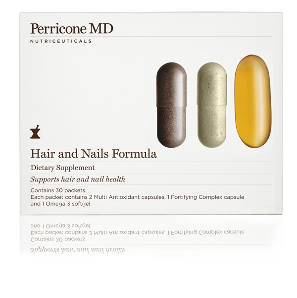 Hair and Nail Formula.   Replenishes the body's essential building blocks for healthy hair and nails. 30-day program.