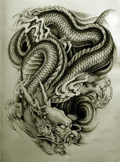 3d dragon tattoo | ... Dragon Tattoo Style 1 Awesome But Weird Oriental Dragon Tattoo Designs