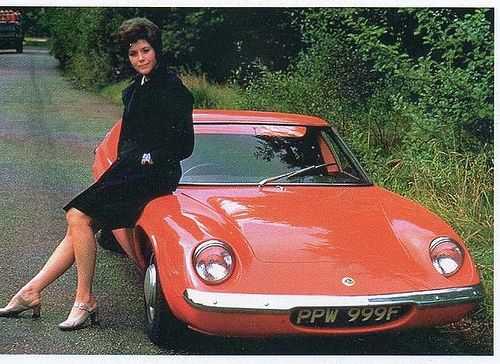 Tara King and her Lotus Europa.  Emma Peel did it for me though...