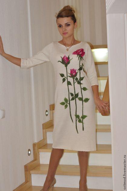 """Платья ручной работы. Ярмарка Мастеров - ручная работа Платье""""Розовый букет"""". Handmade."""