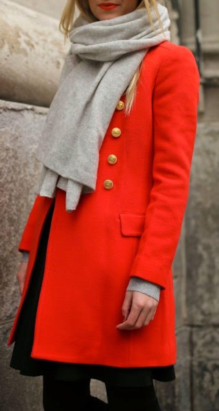 Bright winter coat