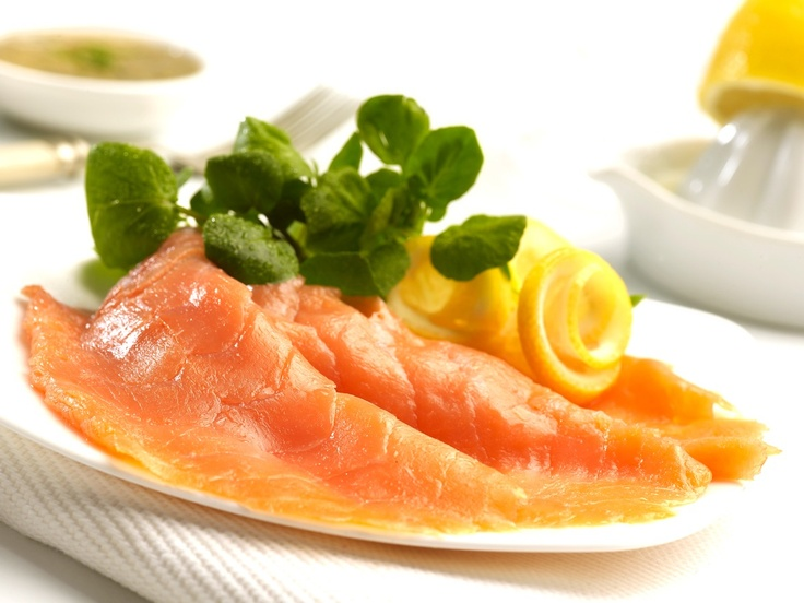 Prime superior salmon from select sustainable farms in north west Scotland. This provides us with low fat, high omega 3 oil fish with full traceability. The salmon is dry cured with sea salt and smoked over pure English oak chippings.