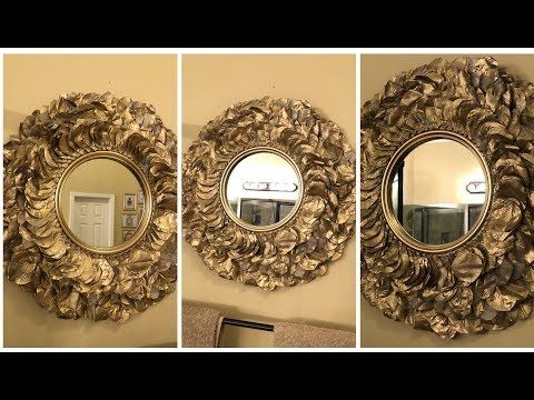 Diy Mirror Decor With 3D Decorative Flowers and Vase Using Dollar Tree Items! - YouTube