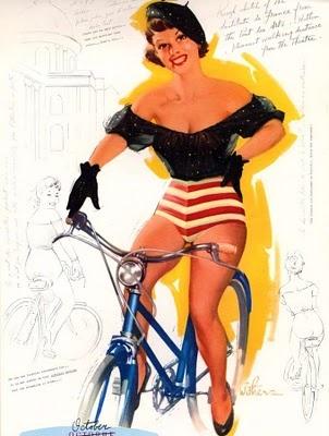 Bike Pin U pBike Fr: Calendar Girls, Bike Pin, Vintage Pinup, Pin Up Art, Vintage Pin Up, Pinup Girls, Pinup Art, Bike Art, Pinup Vol 1 Vintage Art