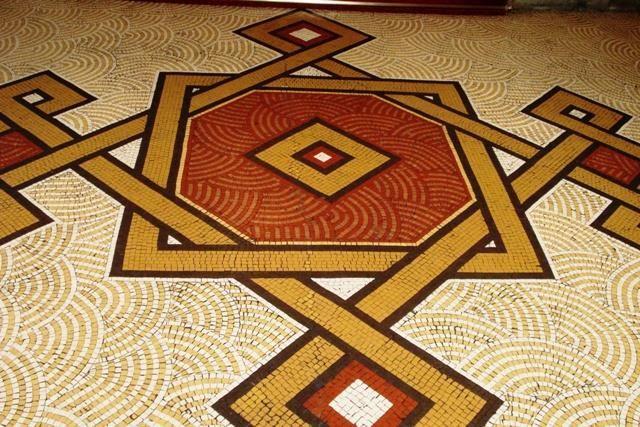 Mosaico - Piso no saguão de entrada. - .Museu Nacional Belas Artes ❄️ RJ