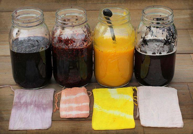 DIY Dyed Herbal Gift Bags