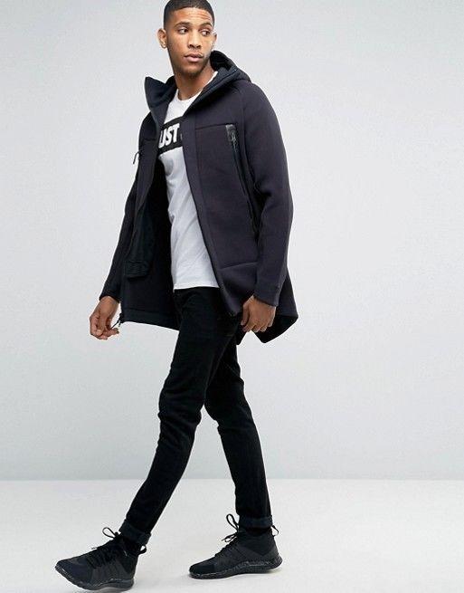 f9a6118c30bc Mens Nike Tech Fleece Parka Full-zip Hoodie Jacket 805142-010 Black New Sz  2XL  Nike  CoatsJackets