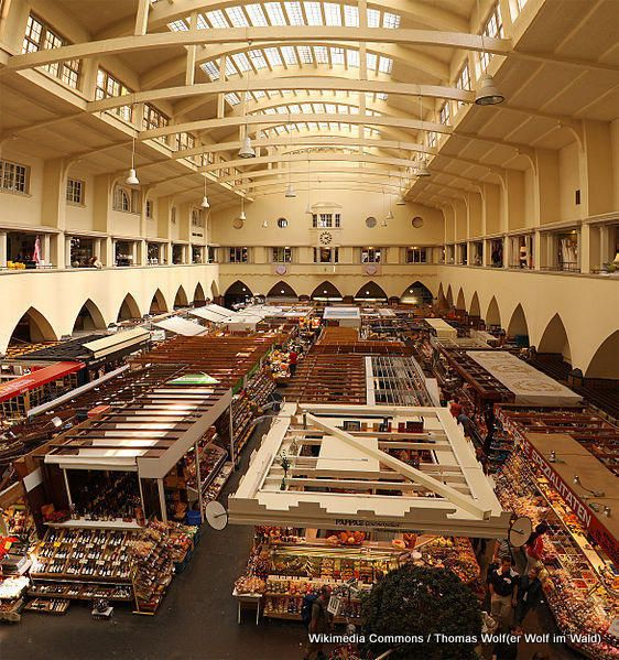 Stuttgart, Germany, used to shop here, a sort of permanent indoor farmers market