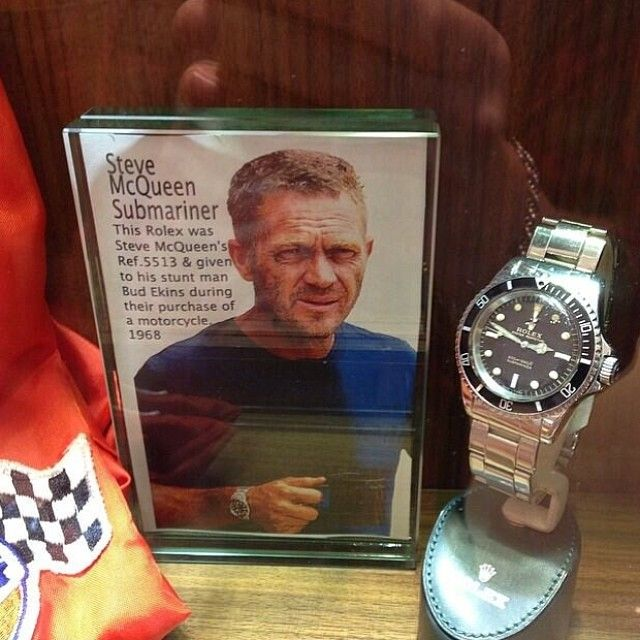 The Rolex 5513 Submariner is already a cool watch, but this particular example (as snapped by @vintagediver ) is impossibly cool. You see this sub once graced the wrist of THE Steve McQueen, the coolest cool watch wearer out there. Apparently he gave it to his stunt man in'68. ⚓️ timeandtidewatches,com #5513