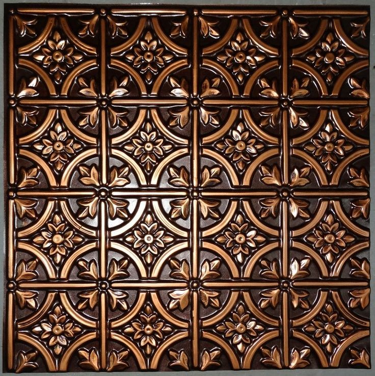 Details About Ceiling Tile Faux Tin Brass Copper Silver